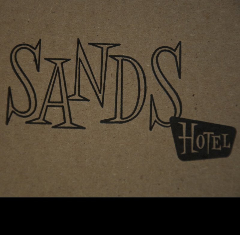 The Sands Hotel Logo Letterpress Personal Project